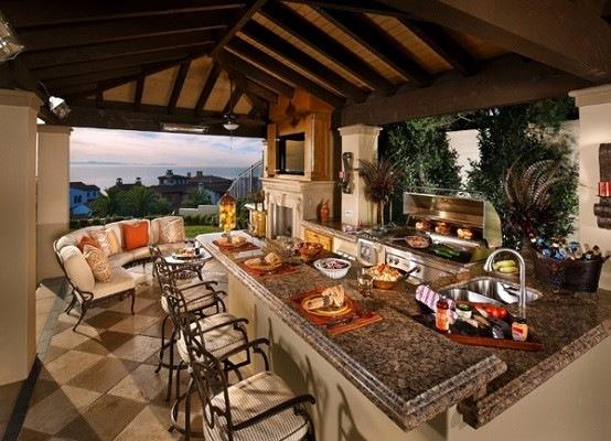 Cocinas de dise o veraniego sabores y estilos al aire libre - Cocinas de exterior con barbacoa ...