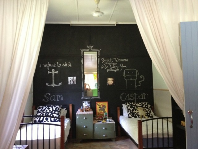 pintura de pizarra habitacion infantil doble