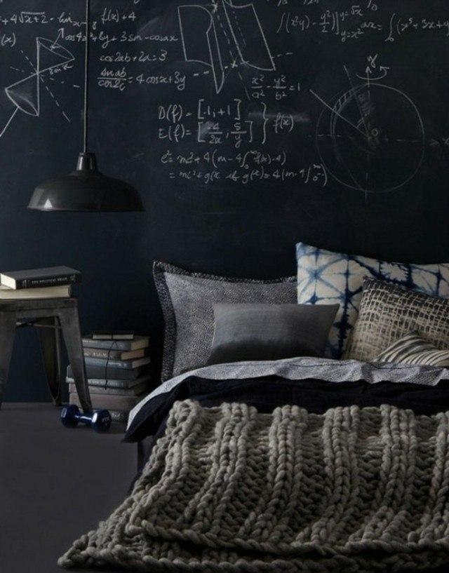 pintura de pizarra lampara colgante dormitorio
