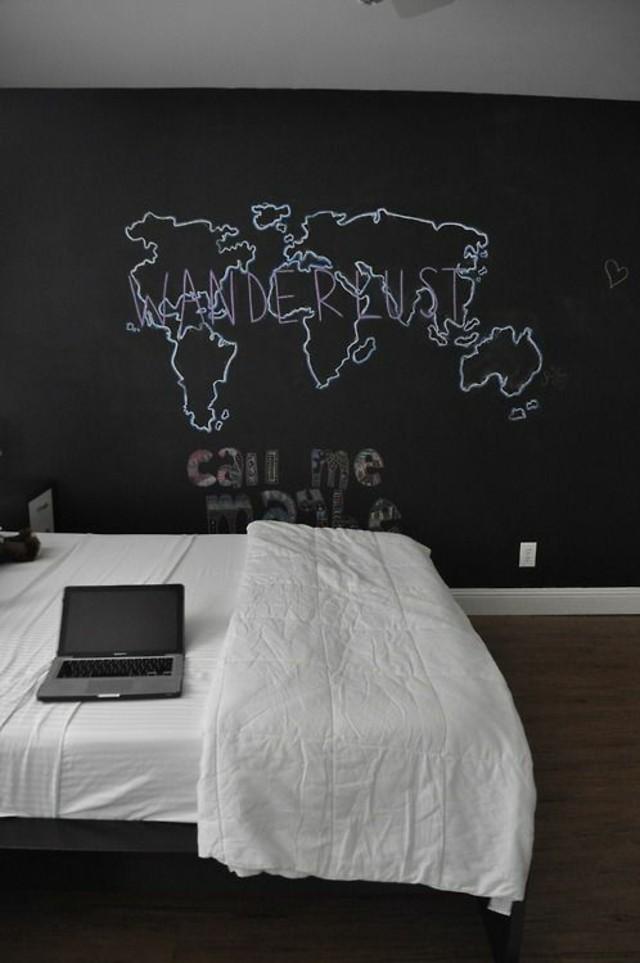 Pintura pizarra para decorar tu pared de forma f cil y - Pintura pared pizarra ...