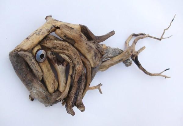 piraña madera de deriva divertida