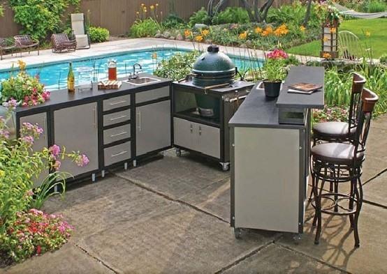 Cocinas de dise o veraniego sabores y estilos al aire libre for Mobiliario piscina