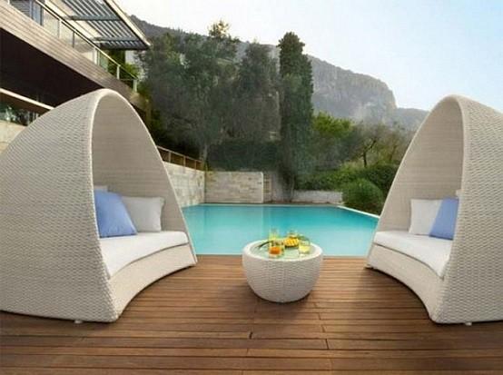 piscina jardin decoracion madera circular