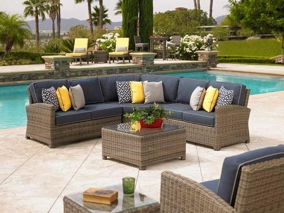 piscina sillas cojines mobiliario barato plantas
