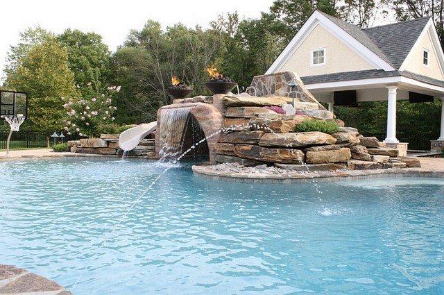 piscinas cesto caidas fuentes niños reluciente