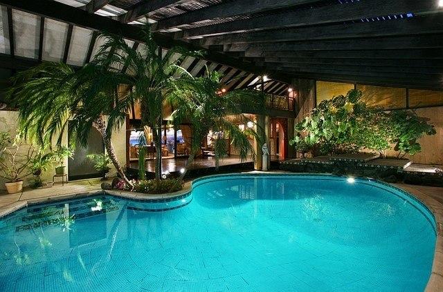 piscinas palmeras agua palmeras escalera tropical