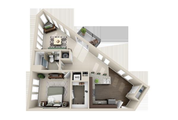 piso plano esquina pequeño cuarto
