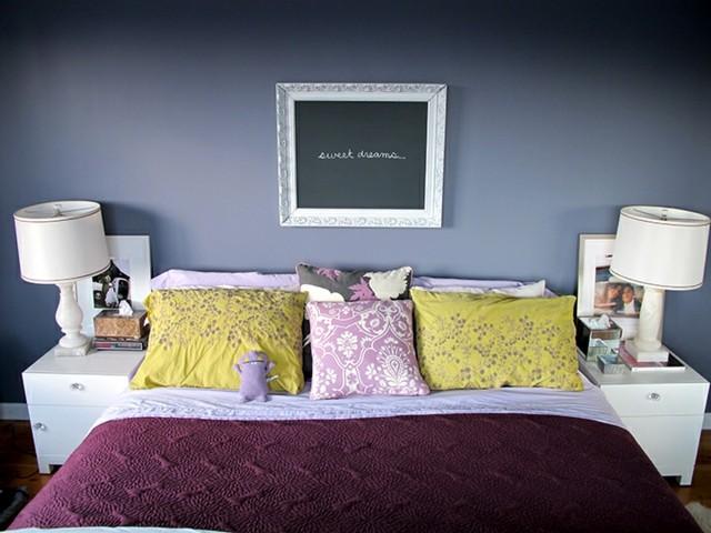 pizarra forma cuadro pared dormitorio