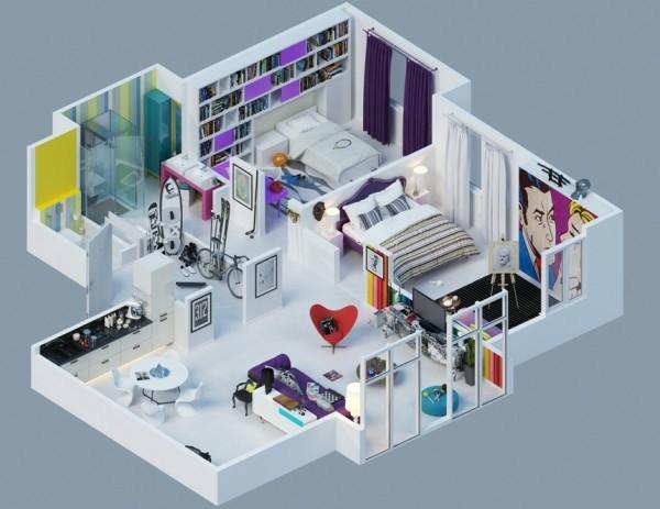 plano piso moderno fashion moda