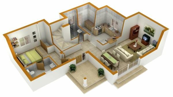 Planos de casas y apartamentos en 3 dimensiones 3d house plan creator