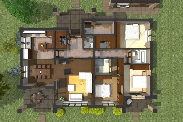 Planos de casas y apartamentos en 3 dimensiones - Planos de casas grandes ...