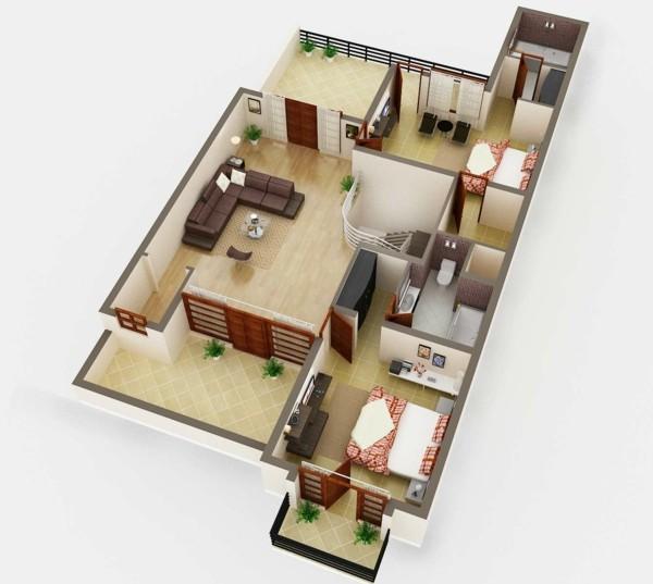 Home Design Ideas 3d: Planos De Casas Y Apartamentos En 3 Dimensiones