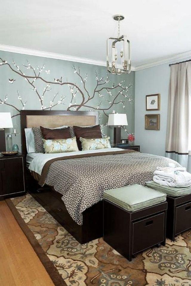 planta decoracion pared cortinas lampara