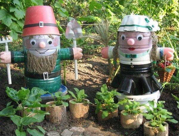 planta plastico pomos figuras envases patio