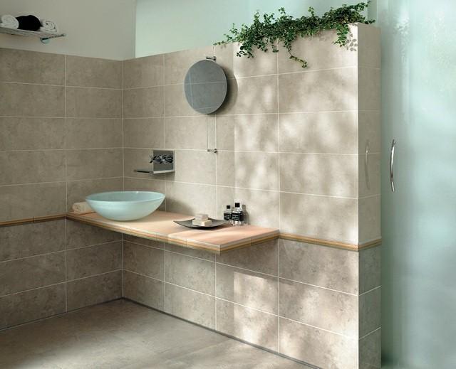 plantas baño marron enrredadera calido moderno