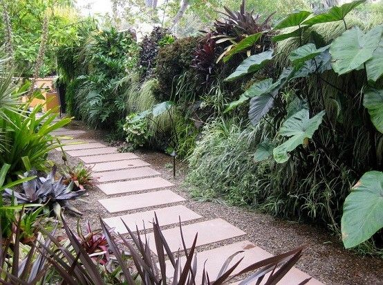plantas jardines fuente paisaje moderno