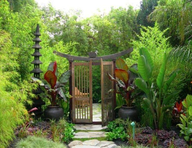 porton plantas bambu camino zen