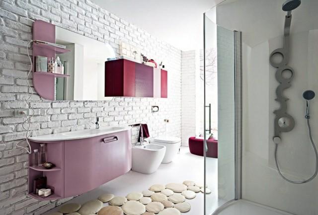 precioso baño estilo italiano rosa bonito femenino