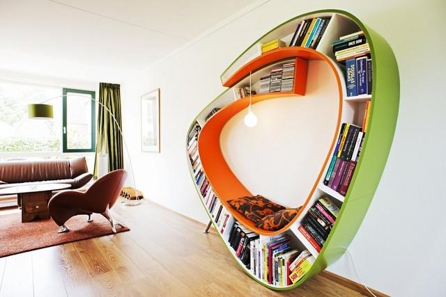 precioso diseño estanteris lugar sentarse leer bonito