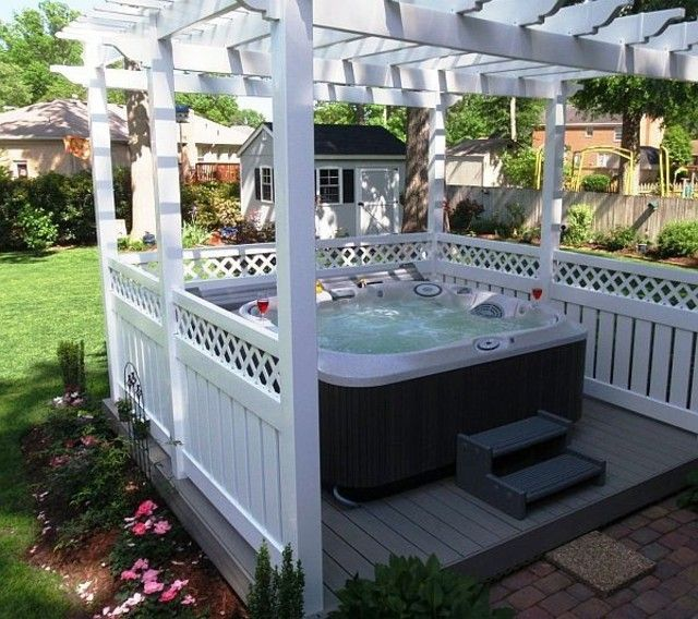 jacuzzi jardin jacuzzi exterior with jacuzzi exterior le mas candille jardin prs du jacuzzi. Black Bedroom Furniture Sets. Home Design Ideas