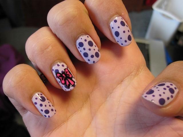puntos decoracion lazo ideas uñas moderno bonita