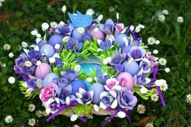 ramo centro de mesa lila pajarito