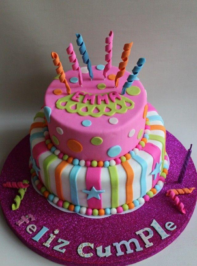 regalos torta nios ideas rosa estrellas