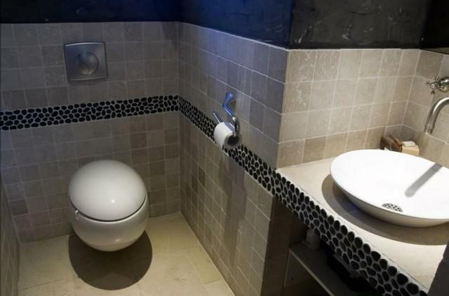 rocas oscuro diseño natural lavabo