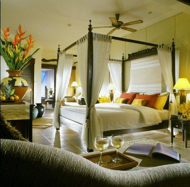 romanticismo amplio cama grande bonito ventilador