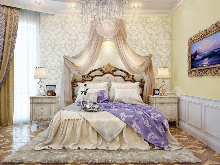 romanticismo dormitorio amplio moderno lampara cristal
