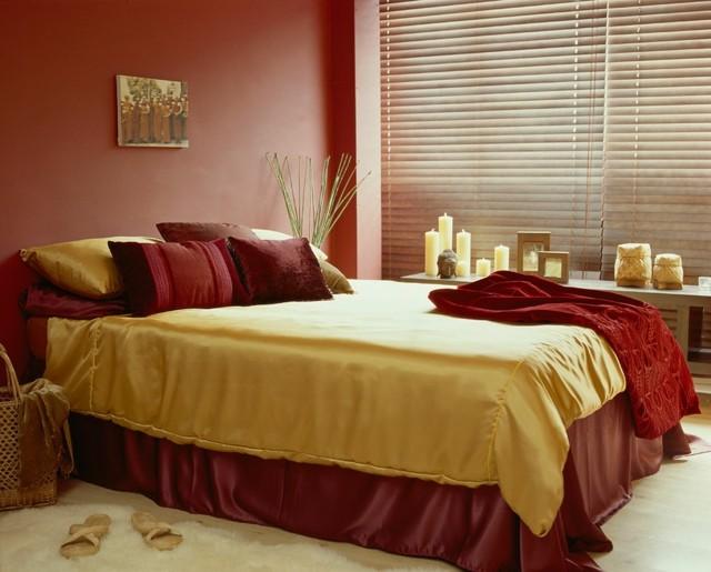 romanticismo dormitorio velas rojo tranquilo bonito