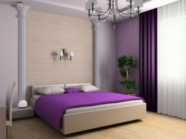 romanticismo purpura amplio estilo moderno original
