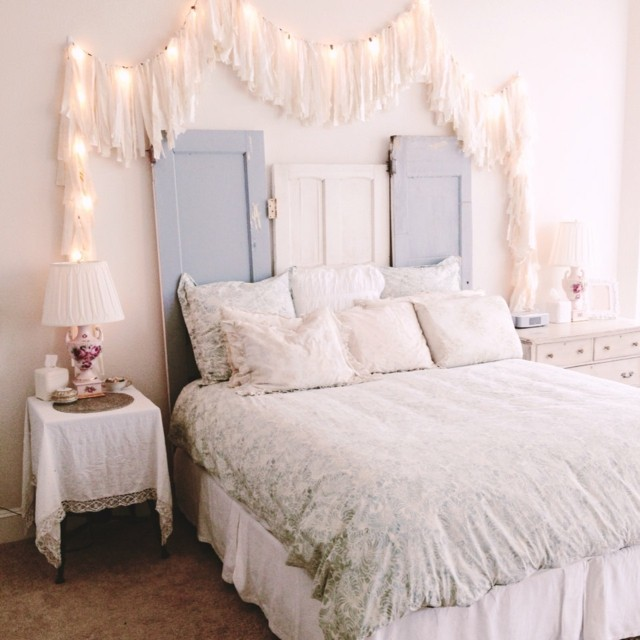 Christmas Bedroom Decorations Tumblr Bedroom Lighting Lamps Bedroom Colors Burgundy Bedroom Outline: Shabby Chic: Ideas Romáticas Para Tu Dormitorio