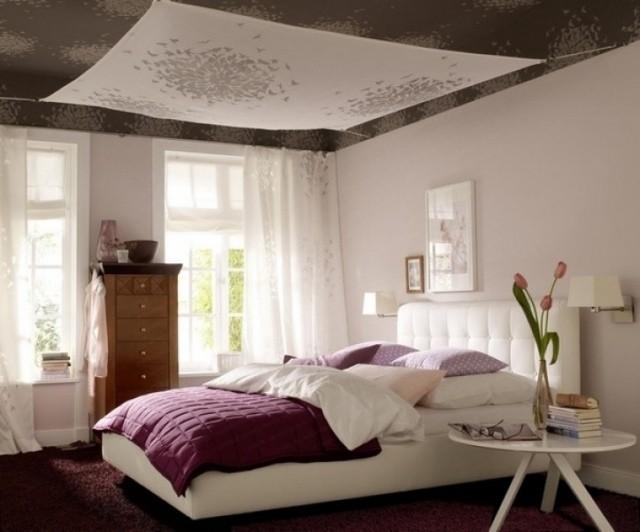 romantico dormitorio purpura alfombra ropa cama