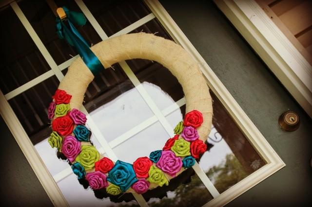 rosas tela idea bonito puerta delantera genial