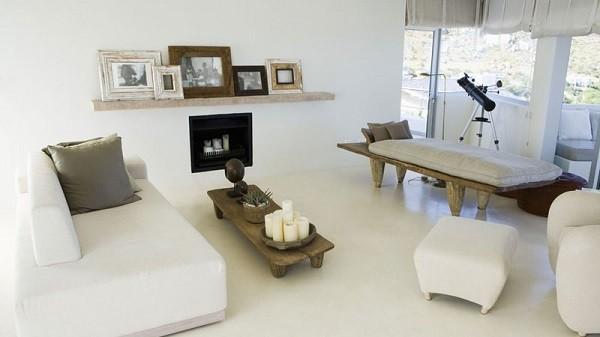 salón blanco muebles blancos madera