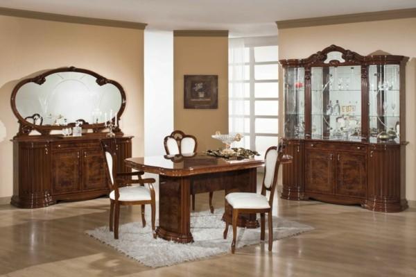 salón clásico comedor madera tocador