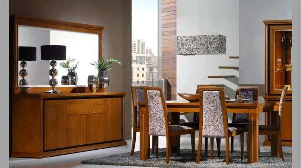 salón comedor estilo clásico madera