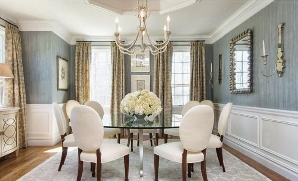 Muebles de comedor en el sal n para las cenas especiales - Salon clasico moderno ...