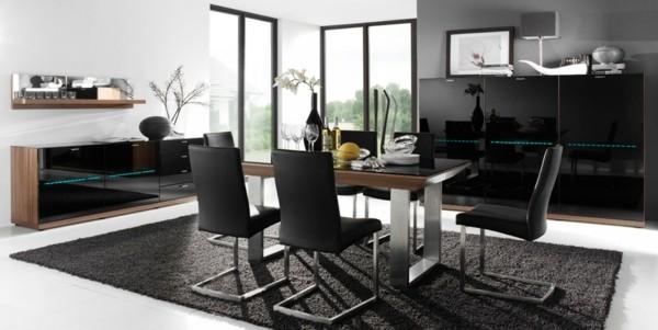 salón lujoso moderno negro alfombra