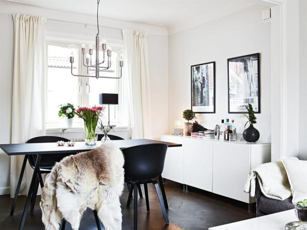 salón moderno comedor pequeño blanco