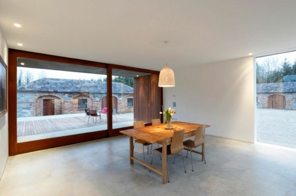 sala comedor ventana grande terraza
