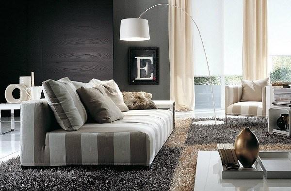 sala moderna alfombra pelos cuadro