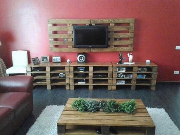 saln muebles palet madera centro