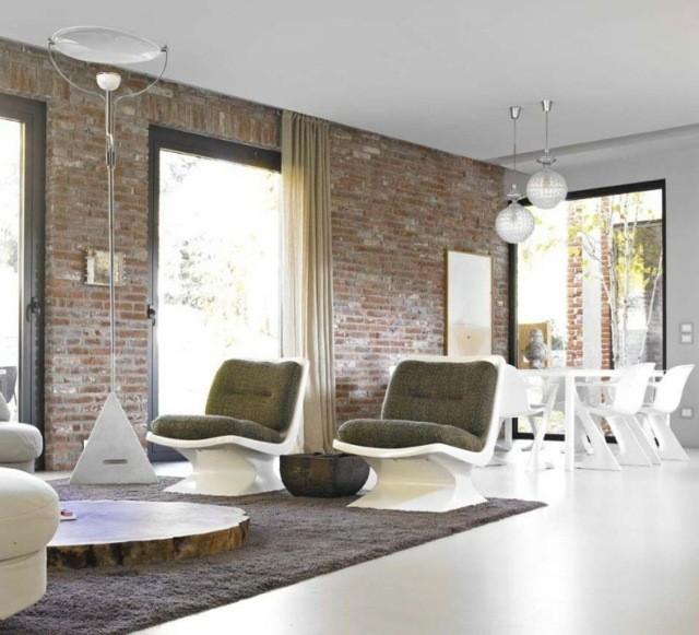 salon amplio muebles estilo moderno diseño