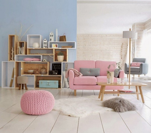 salon colores celeste rosa bebé