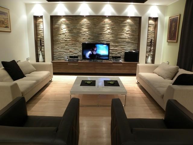 salon contemporaneo moderno muebles diseño grandes