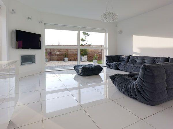 salon minimalista moderno luz sofas