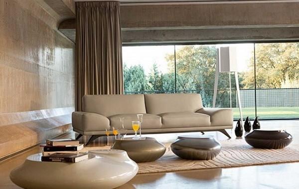 salon moderno beige  sillones sofá