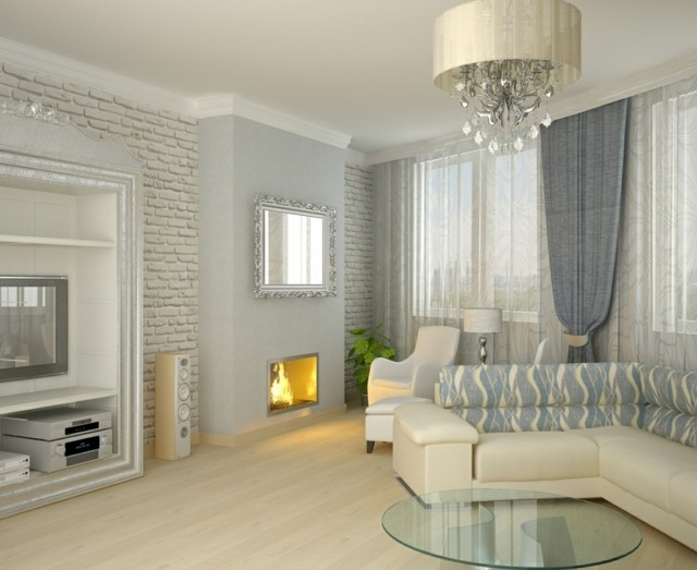 Sal n moderno tendencias originales para 2015 - Salon moderno blanco ...